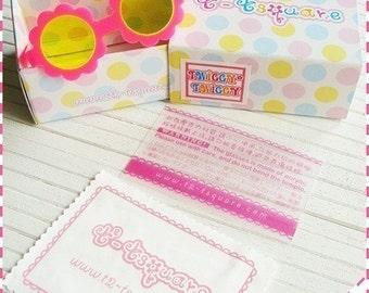 Twiggy Twiggy S04-FPY Blythe Flower Glasses - Pink w/ Yellow Lenses