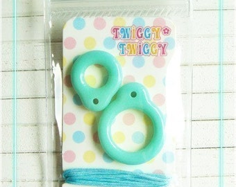 Twiggy Twiggy Blythe Pull Ring - New Turquoise - PR01-15