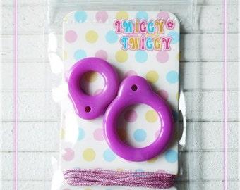 Twiggy Twiggy Blythe Pull Ring - Dark Purple - PR01-17