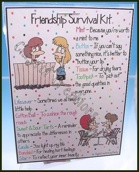 FRIENDSHIP Survival Kit Becky's This And That