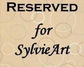 RESERVED for SylvieArt - 2 Custom Coasters