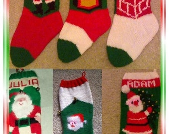 SIX PACK Of Savings...6 Classic Santa Stocking Patterns