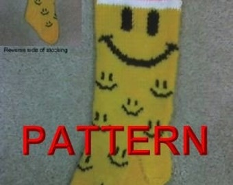 Have A Nice Day Christmas Stocking Knitting Pattern