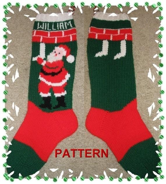 Santa Hanging Stockings Stocking Knitting Pattern