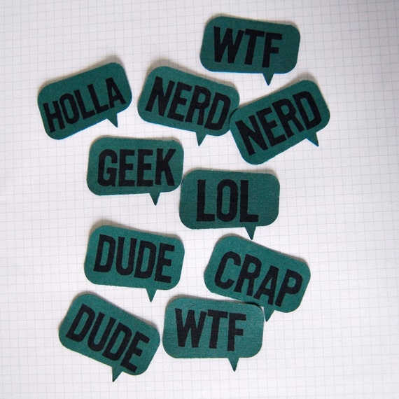 thought bubble papercrafting tags - dark teal/aqua