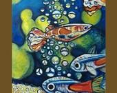Inventory Clearance SALE----- Tetra-cini -- 20 X 24 original oil painting by Elizabeth Graf