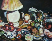 My Favorite Things -- 18 x 24 original oil painting, Art Painting, Art & Collectibles