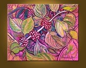 RESERVED FOR KATIE -- Beauty Berry - 16 x 20 inch Original Oil Painting