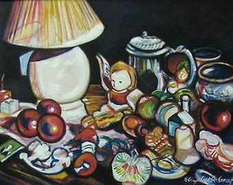 My Favorite Things -- 18 x 24 original oil painting, Art Painting