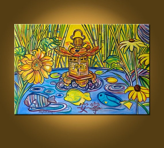 Art Painting Original Painting -- Early Spring and Serenity -- 20 x 30 inch - ready to hang