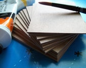 ATC ACEO Blanks - 25 Natural Chipboard