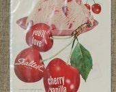 1955 Sealtest Cherry Vanilla Ice Cream Ad