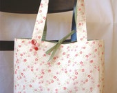 the RUTHIE tote bag - cream and flowers