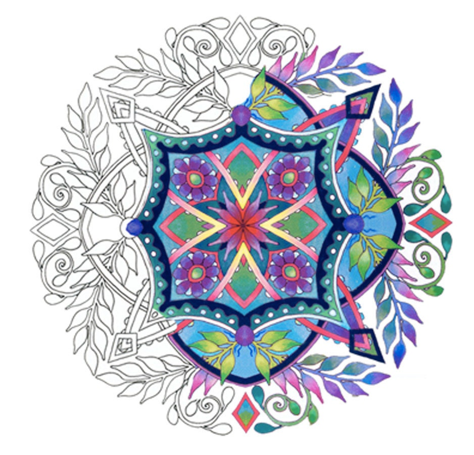 Mandalas Set 1 Coloring Pages For Adults By Emerlyearts On