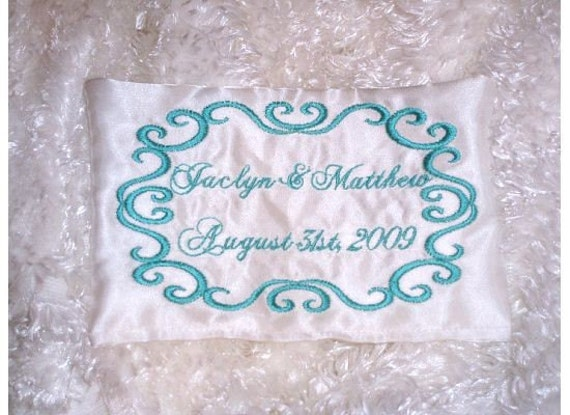 Wedding Label Tag Shower Gift Something Blue Gown Dress Label Custom Embroidered Personalized Monogrammed Dana Marie Creations