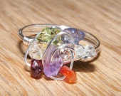 Chakra Twist Silver Ring -  Reiki Infused