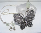 Silver Iridescent Spring Butterfly - Archangel Raphael - Reiki Infused