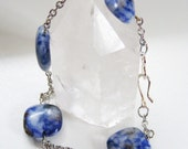 Summer Sea - Sodalite Silver Bracelet - Reiki Infused