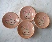 amerock story book knob - peter rabbit - vintage 50s - pink bunny - new old stock