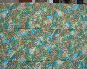 vintage fabric - watercolor lace floral - cotton fabric - 50s 60s - 36w x 2 yards