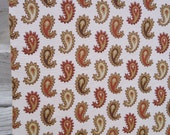 """6 yards vintage fabric - 50s 60s paisley fabric - 38"""" wide"""