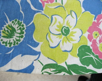 vintage fabric -  40s Border Print - Vintage Feedsack Fabric