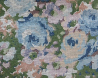vintage fabric - 30s or 40s cotton floral fabric