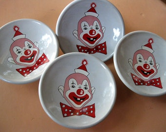 amerock story book knob -clown with bowtie - vintage 50s  - new old stock