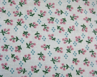 vintage fabric - joan kessler for concord - teeny pink berries - 45w x 2.5 yards