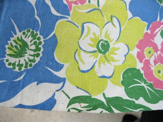 vintage fabric -  40s Border Print - Vintage Feedsack Fabric