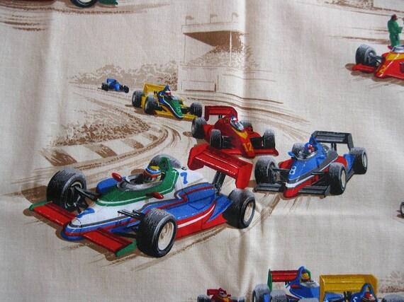 Fun Indy Race Car Fabric