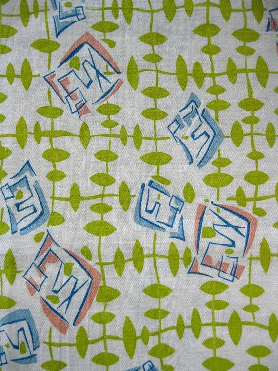 vintage fabric - 40s cotton feedsack fabric - unopened sack - fun print