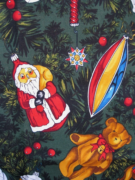 novelty christmas fabric - 2 YDS Alexander Henry - We Need A Little Christmas Fabric - santa and ornaments