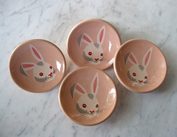 amerock story book knob - peter rabbit - vintage 50s - pink bunny - new old stock