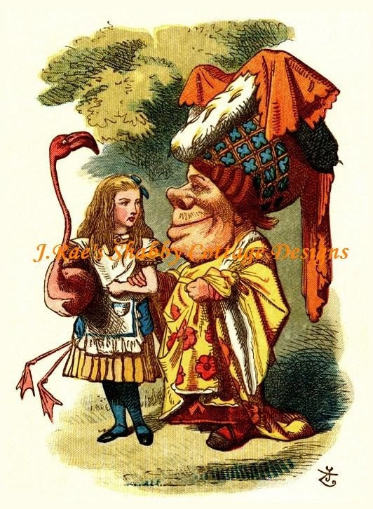Lovely Alice In Wonderland W Duchess Vintage By