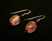 Lavender Ice Flake Quartz Earrings
