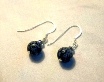 Snowflake Obsidian Earrings