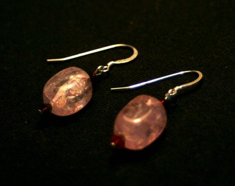 Lavender Ice Flake Quartz Earrings