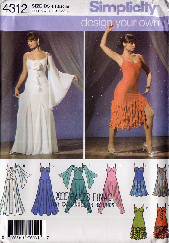 Simplicity 4312 Salsa Dance Dress - 147.4KB