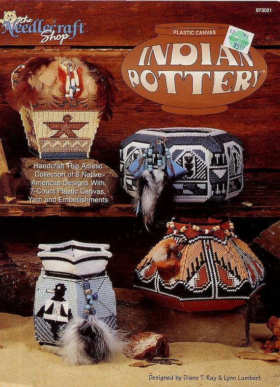 Indian Pottery - Plastic Canvas Pattern - 8 Native American Designs - Needlecraft Shop