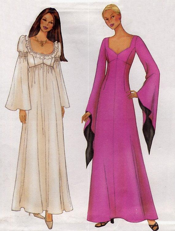 Empire waist gown pattern butterick 6593 renaissance for Empire waist wedding dress patterns