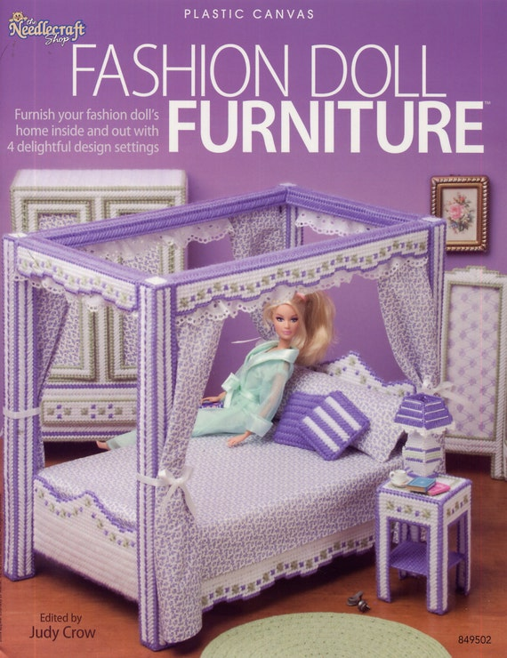 Fashion Doll Furniture Plastic Canvas Pattern Needlecraft