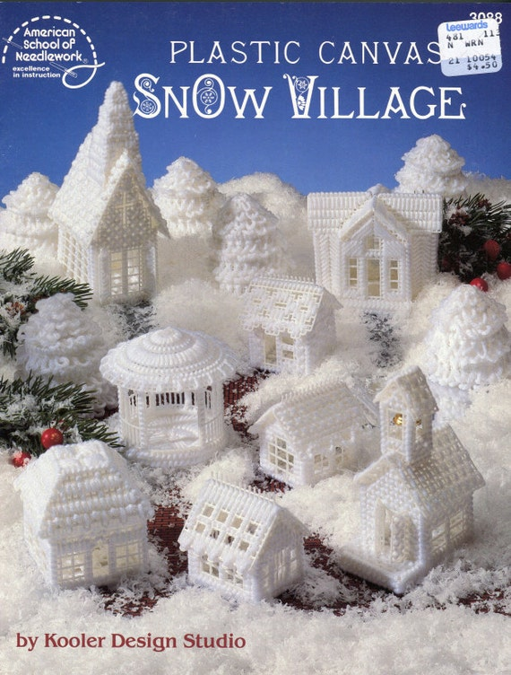 Plastic Canvas Snow Village Pattern - American School of Needlework 3088