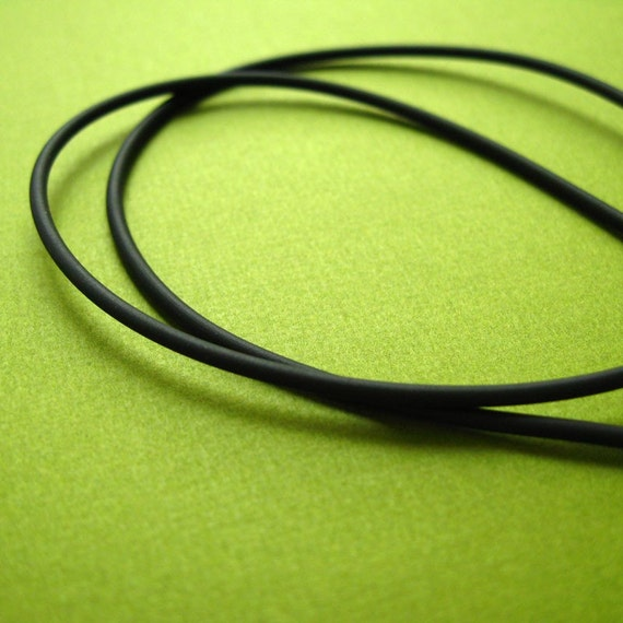 Black Rubber Cord Necklace for Add a Tag Pendants -18 inch
