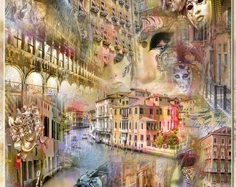 Artwork Of Venice - An Artistic Collage