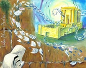 Kotel Western Wall Temple Jerusalem Beit Hamikdash Judaica Print