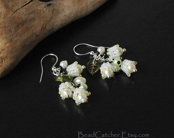Lily of the valley bouquet earrings