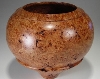Woodturned  Maple Burl Bowl by Mo Sewelson