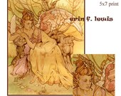 Aurora Dawn Goddess MiniPrint Art Nouveau