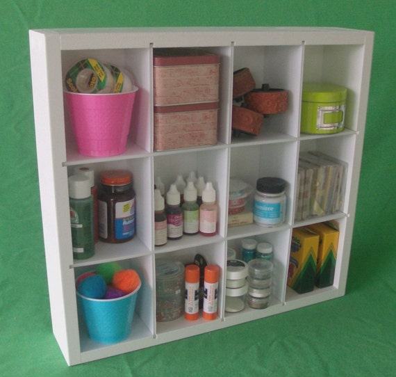 Scrapbooking Craft Cubbie Storage Organizer
